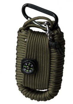 Paracord Survival Kit, Large, oliv