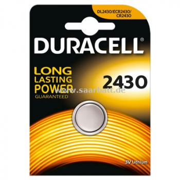 DURACELL Knopfzelle, 2430