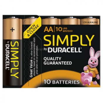 DURACELL Simply, AA, 10er Pack