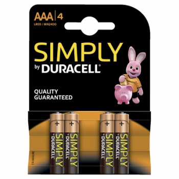 DURACELL Simply, AAA, 4er Blister
