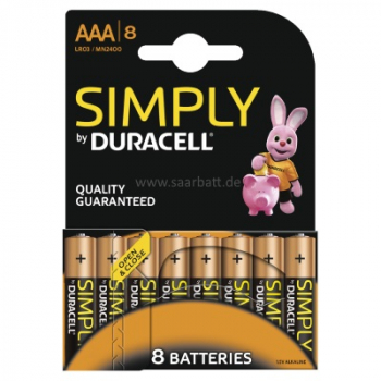 DURACELL Simply, AAA, 8er Blister