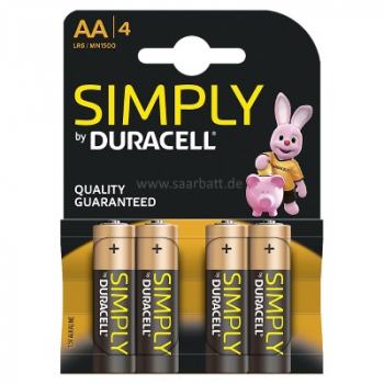 DURACELL Simply, AA, 4er Blister