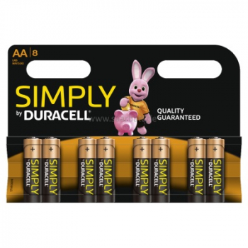 DURACELL Simply, AA, 8er Blister