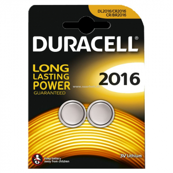 DURACELL Knopfzelle, 2016, 2er Pack