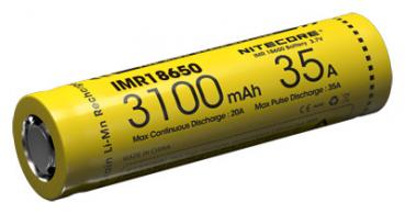 Nitecore Li-Ion Akku IMR 18650, 3100mAh, 2er Pack, bis 35A