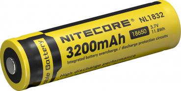 Nitecore 18650 Li-Ion Akku, 3200mAh, NL1832
