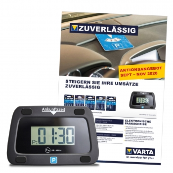 VARTA-AKTION Longlife Power + elektr. Parkscheibe -  Herbst/Winter 2020