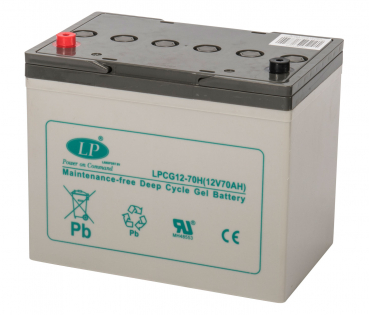LANDPORT, GEL, LPCG12-70HT6, 12 V - 70 Ah