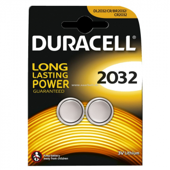 DURACELL Knopfzelle, 2032, 2er Pack
