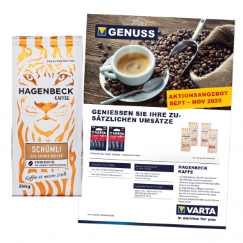 VARTA-AKTION Longlife Max Power + Hagenbeck Kaffee -  Herbst/Winter 2020